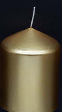 Kerze-gold